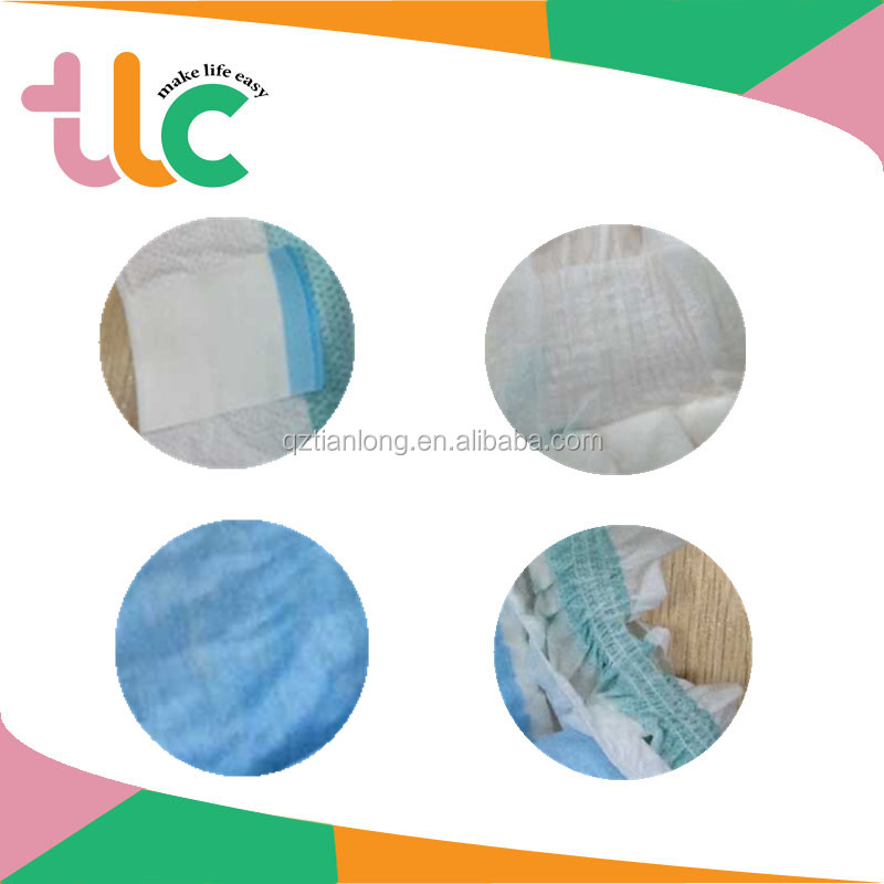 Hot sale Nonwoven Fabric material disposable baby diaper/nappies in China