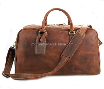 Brown-yellow Crazy Horse Leather Travel Tote Bag China Supplier 7156LR