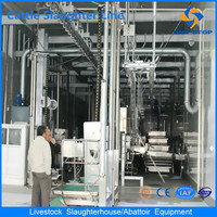 Turnkey Project Slaughterhouse Halal Livestock Slaughter Line Machine for Cow Cattle and Sheep Goat Lamb