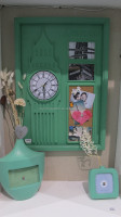 3D picture frame with clock and cork board