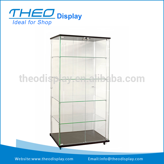 Exclusive decorative glass wall shelf