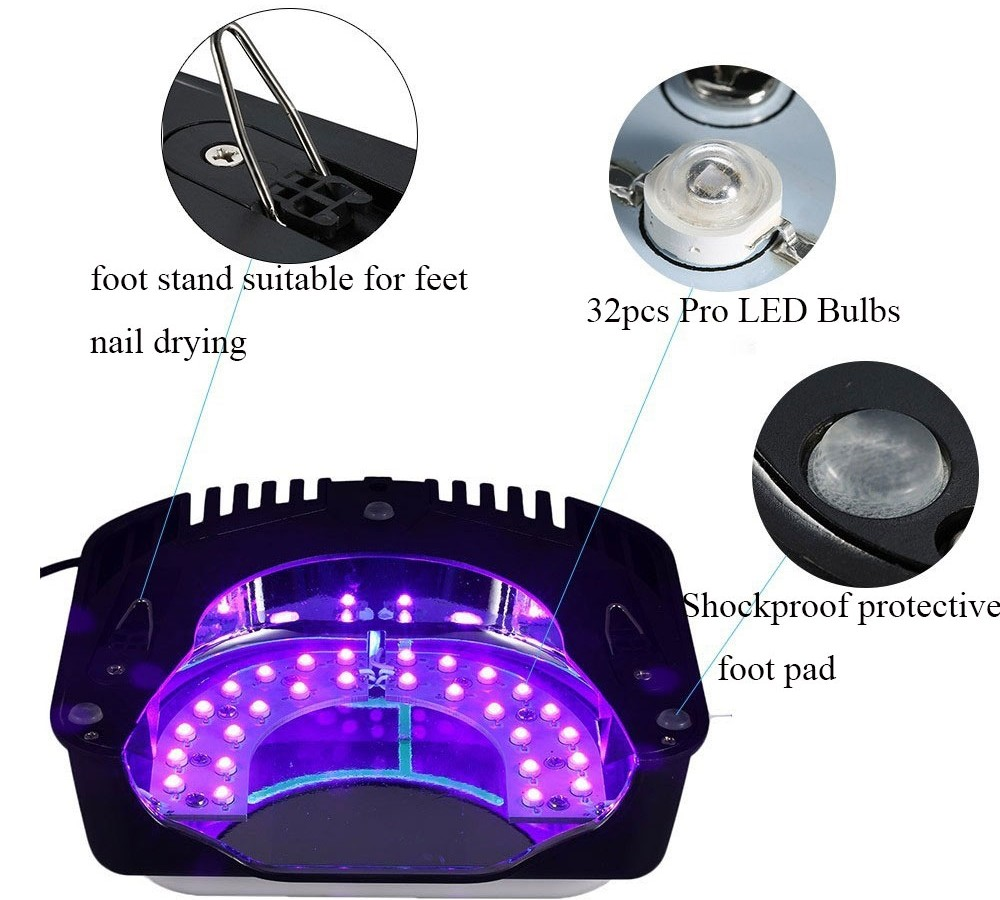 Best seller professionale rechregable iBelieve gel uv led cordless lampada del chiodo 64 w
