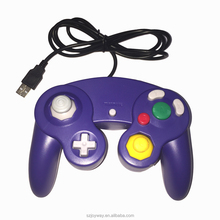 for Nintendo gamecube usb game controller compatible with win and Mac purple color