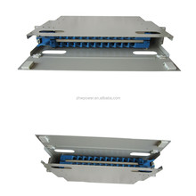 24 core fiber optic patch panel , pull-push type fiber patch panel, 19inch patch panel for fiber optic sc adapter