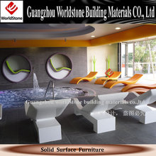 solid surface chair design, artificial stone
