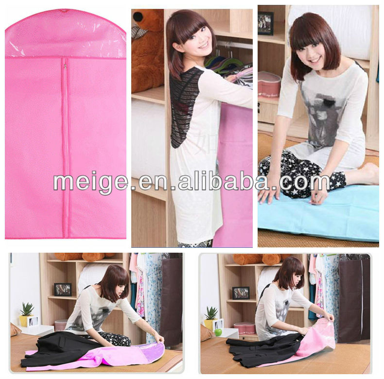 Wholesale waterproof hanging garment bag/Suit Cover/garment cover