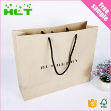 personalized oem production paper shopping bag with your own logo