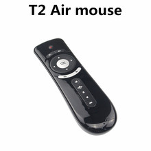 2.4GHz Mini Wireless Gyroscope Fly Air Mouse T2 Android Remote Control 3D Sense Motion Stick Gaming Laptops Desktops Accessories
