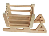 wooden craft sled model