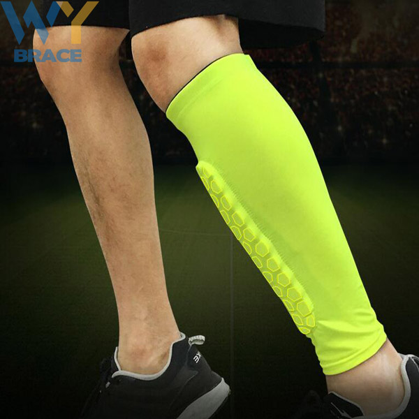 Unisex honeycomb anti-collision compression calf sleeves Leg Warmer Sleeves