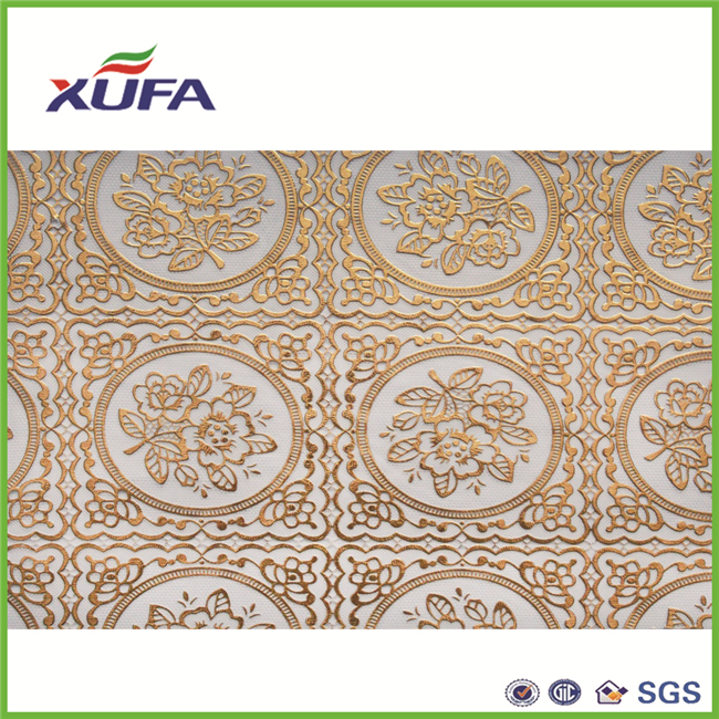 Heat sealing compound embroidery pattern table cloth