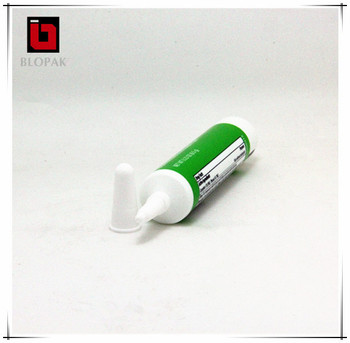 Refillable Toothpaste With Silver Cap Red Plastic Tube For Cosmetics
