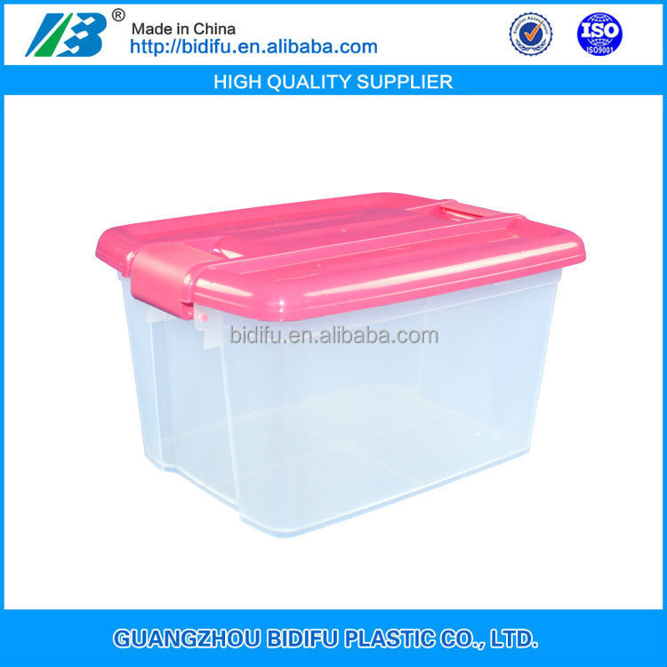 small food grade cheap price plastic storage box storage bin plastic crate with lid for sale China manufacturer