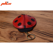 Genuine Leather Cute Ladies Ladybird Animal Leather Key Holder