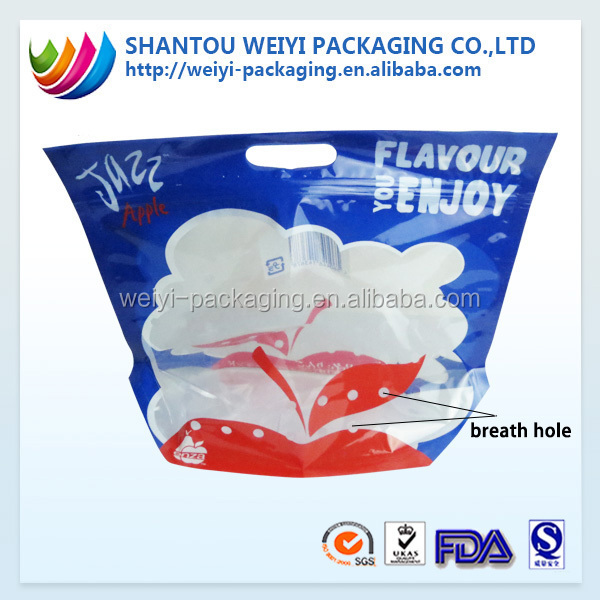 Fresh product packaging grape packaging bag with air hole