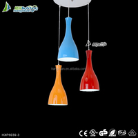 Contemporary and simple mixed colorful Aluminium chandeliers &hanging lights led pendant light form ZHONG SHAN