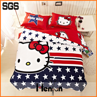 custom print 3D hand embroidered bed sheet