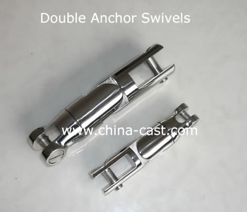 Double Anchor Swivel, Double Anchor Chain Connector, Double Stainless Steel Anchor Accessories