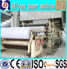 A4 printing cellulose fiber paper recycle making machine with guangmao