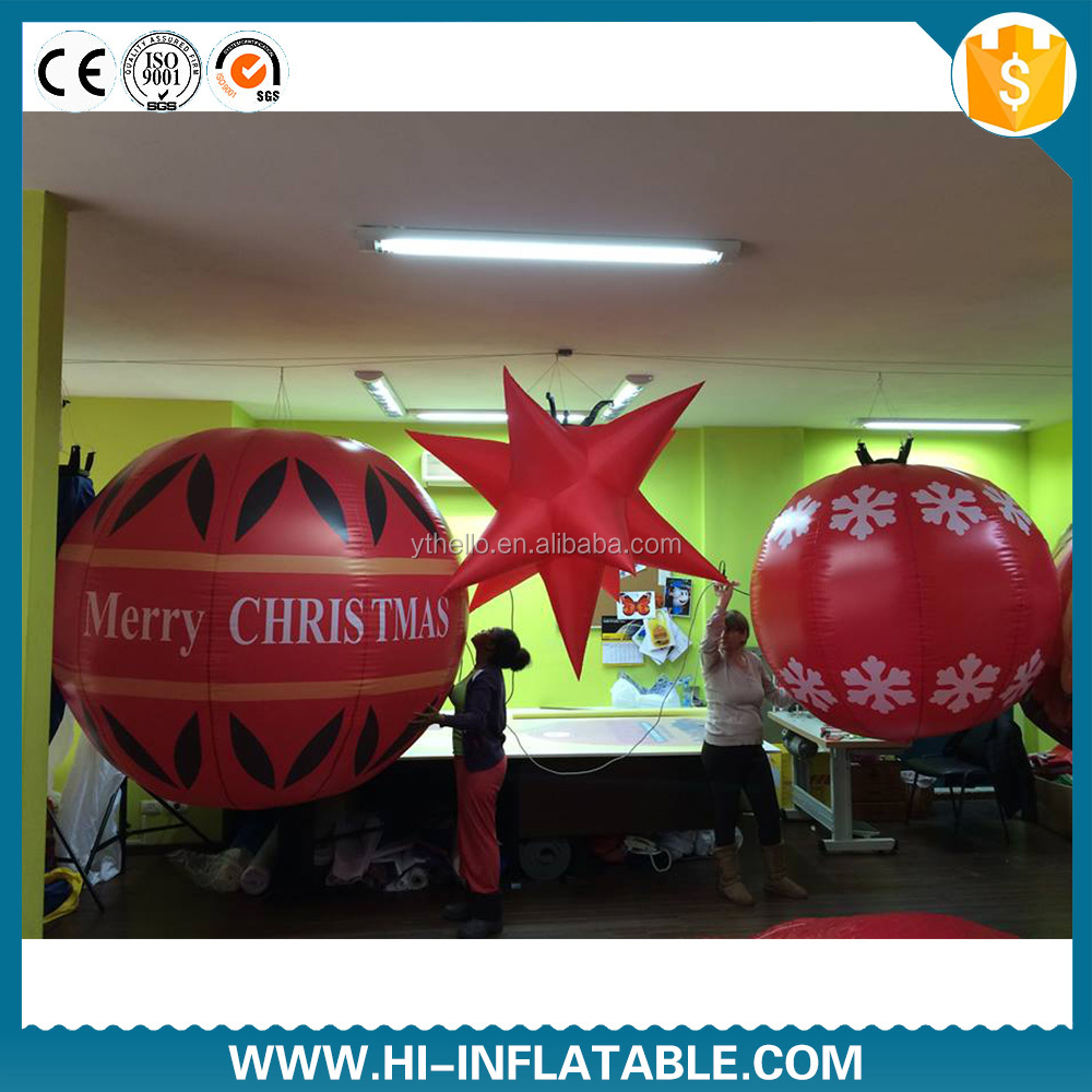 inflatable <strong>christmas</strong> ornaments ball / <strong>christmas</strong> inflatable balloon/Mall <strong>Christmas</strong> ornaments