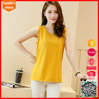 New arrival knitted bulk fit loose tank top wholesale women