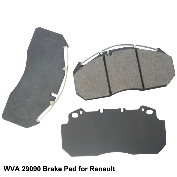 WVA 29090 Semi-Metallic Magnum Truck Brake Pad for Renault