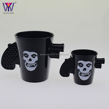 Popular gun shape skull souvenir shot glass promotional items wine glass