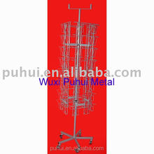 metal wire rotating floor card rack with SGS certificate
