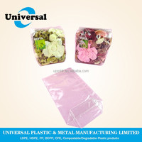 Disposable plastic food packing bags