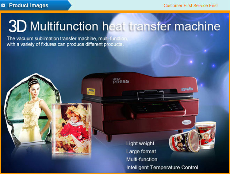 High quality multifunction 3d heat press machine