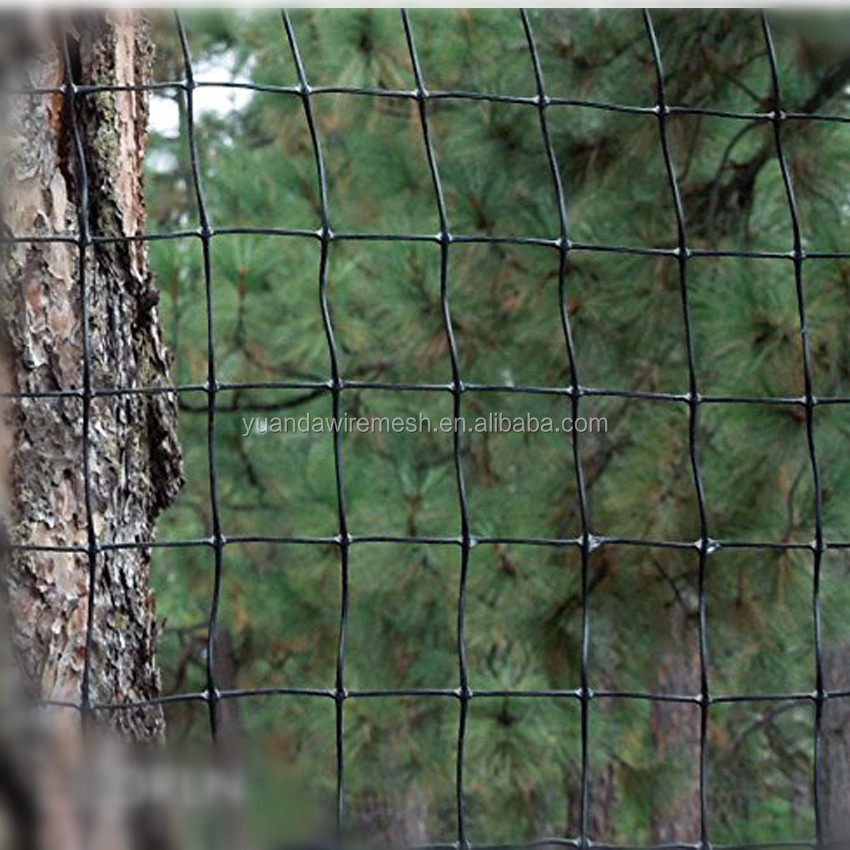 Widely used Plastic Black Vinyl Plastic Deer Fence Wire <strong>Netting</strong>