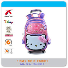 wholesale cute hello kitty child trolley school bag