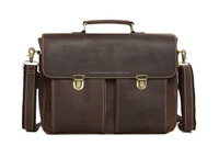 Wholesale Vintage Genuine Leather Briefcase for Man Handbag