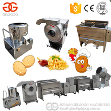 Stainless Steel Small Scale Chips Making Machine Potato Chips French Fries Production Line