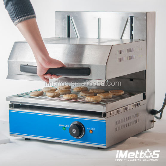 iMettos Electric Lift Salamander Grill Oven With Adjustable Top Layer