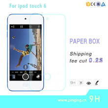 2016 New Model 0.33mm 9H hardness Tempered Glass Screen Protector for ipod TOUCH 6