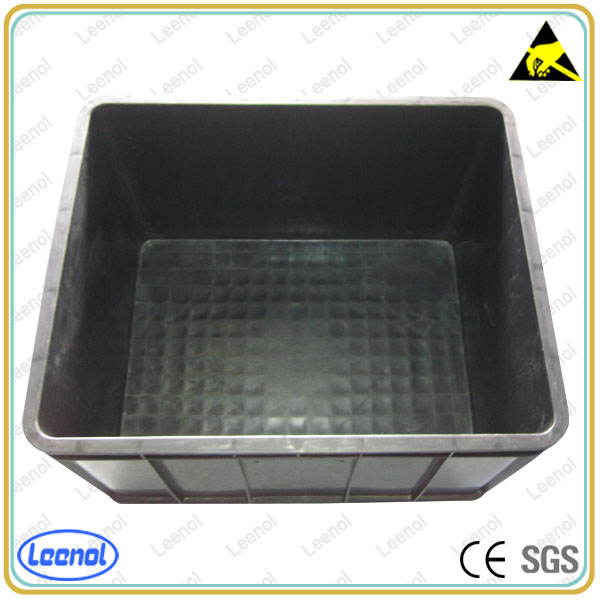 ESD Plastic Container Black Conductive Circulation Boxes