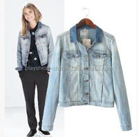 Big brand soft thin jean jacket top popular women fashion coat 2015