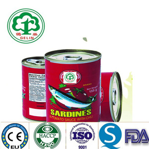 425g and 125g Canned Sardines in Tomato Sauce Tomato Paste Sardine