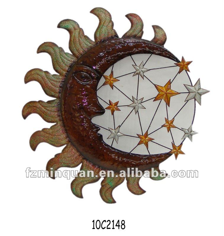 Cast Iron Moon Star Wall Plaque