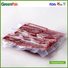 "Factory supply 12""*12"" PA/PE food plastic vacuum bag/food vacuum packing pouch for meat and sea food"