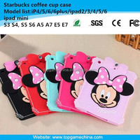 Silicone case for tablet pc ipad mini mickey minnie mouse case with diamond