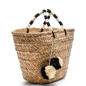 China Factory Fashion Handmade Ladies Handbag Custom Straw Bags Women Beach Wicker Bag
