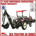 QLN504 with ce certification mini farm tractor with front end loader and backhoe