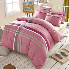 2017 new peach color queen size patch work bed sheets