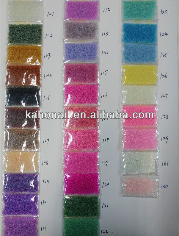 2014 Hot Sales DIY Different Colors Caviar Nails/Caviar Beads for Nail Art Manicure-02