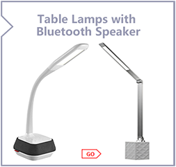 WILIT modern flexible led desk reading Bluetooth Speaker table lamp with 5V/1A usb output