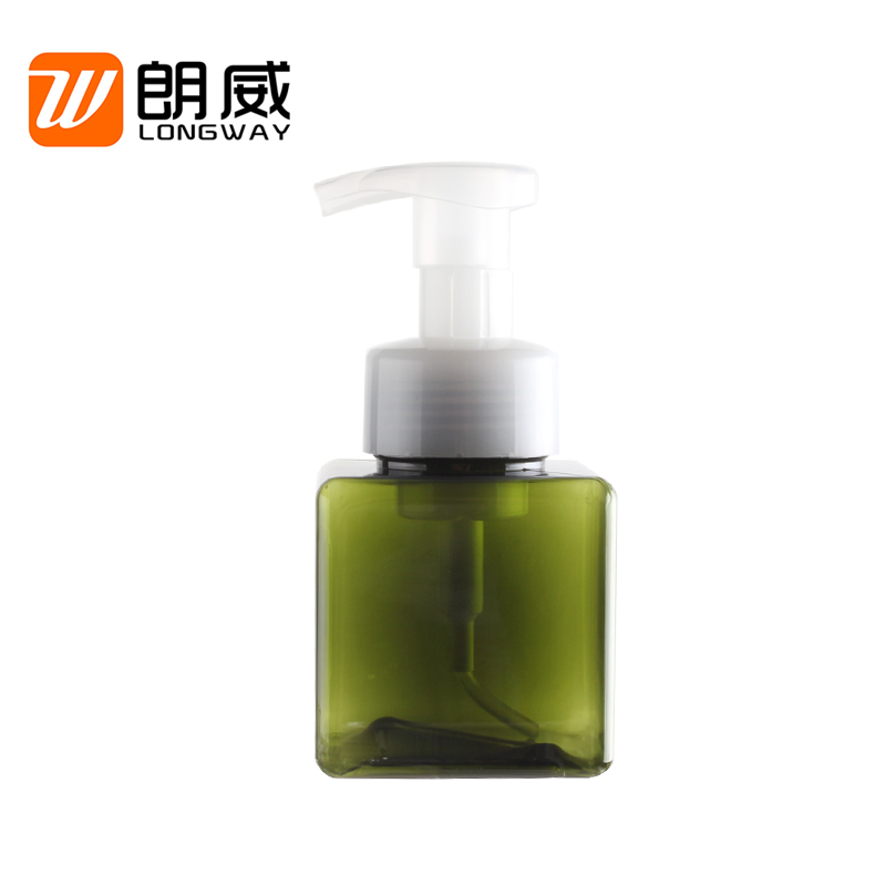 OEM In Stock 250ml Colorful PETG Plastic Square Bottle Foam Dispenser Pump Bottle