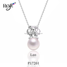 Bulk Buy From China Fashion Jewelry 2017 Pearl Pendant With Leo Astrology