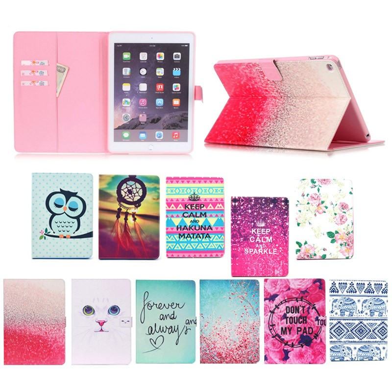 Fancy PU leather + tpu case flip tablet cover for ipad mini 4 with stand, 2015 new product